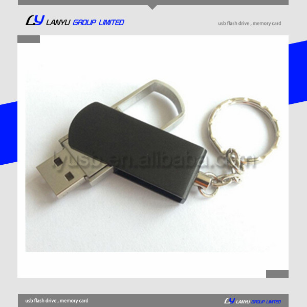 Top selling metal swivel usb flash disk 2gb 4gb 8gb with key chain free logo