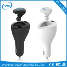 High-Quality PC Fast Charging Car Charger With Mini-Wireless 4.0 Bluetooth 10M 2 in 1 Design In-ear Earphone