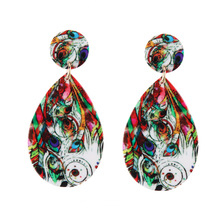 2018 exaggerated colorful fashion earrings hot selling jewelry