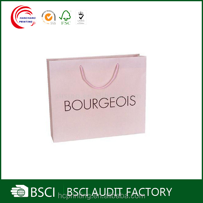 Wholesale Custom Fancy high quality pink paper bag