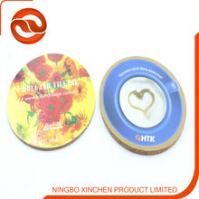 professional factory sale cork+paper coaster promotion coaster / cup mat