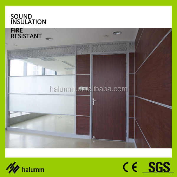 high wall office cubicle design, transparent glass partition with pvc profile ,frameless office partition glass wall