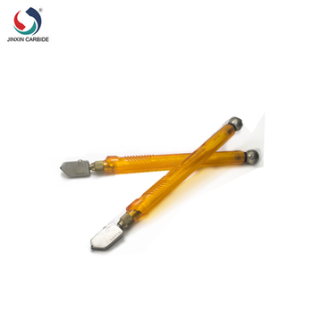 glass cutter with tungsten carbide scribing wheel tip and alloy handle