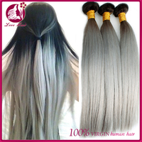 Best Selling 30 Inch Grey Unprocessed Human Hair Weft Raw Virgin Unprocessed Human Hair Grey Hair Simply Straight