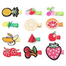 Baby Girls Hair Clips Cartoon Design Embroidered Patches Barrettes