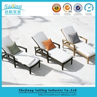 Outdoor Covered Rattan Furniture Wooden Sofa Seat Rattan Chair Cushions