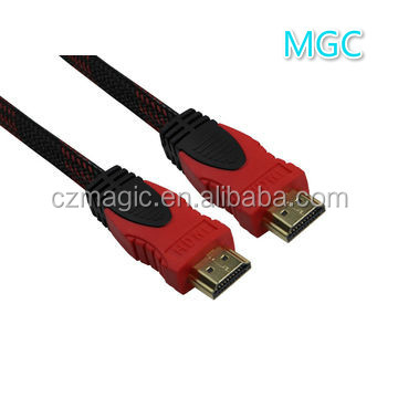 HDMI plug to HDMI plug 19PIN Double colour Round cable