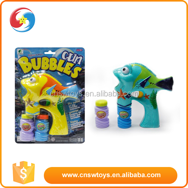 A competitive price children to play with plastic fish bubble gun