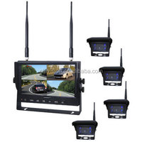 "7"" 2.4G Digital Wireless Monitor+4 Digital Wireless Camera DIY Kit Camera in Car Backview Camera"