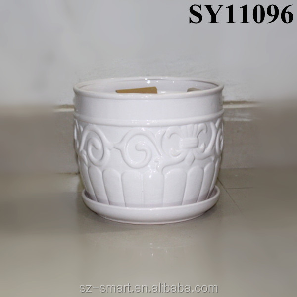 decoration pot for sale white small lightweight ceramic