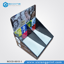Convience store game card cardboard counter top display box
