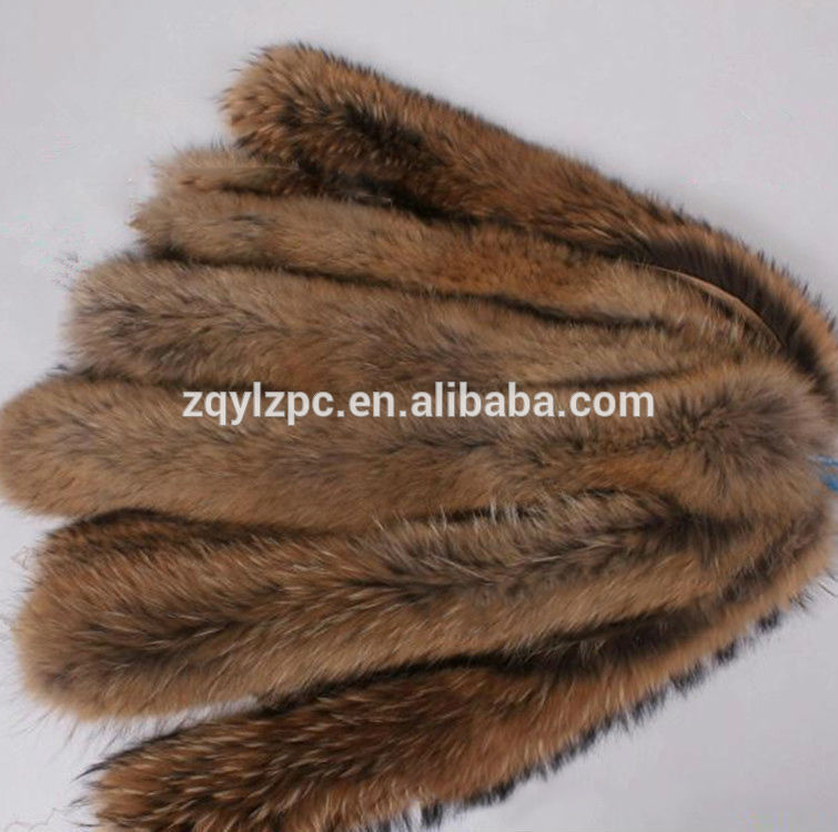 Chinese raccoon high quality Raccoon Fur Trim for hood