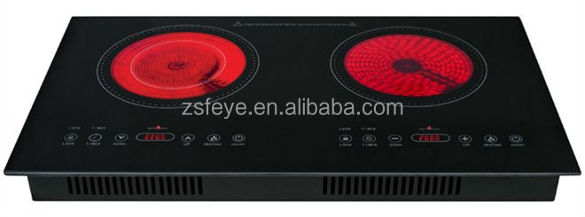 Built-in Double Burners Infrared Cooker