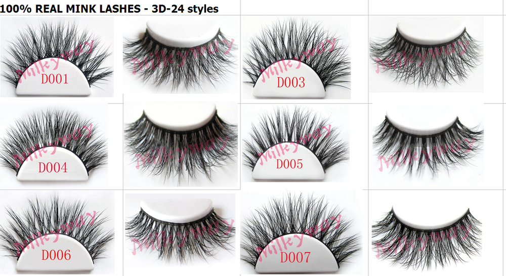 High quality handmade strip fake eyelash 3D strip eye lashes 0.07 with custom package