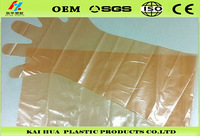 kaihua disposable PE Long sleeve gloves plastic gloves