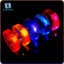 Light UP Motion & Sound Activated LED Bracelet For Promotional Gift,party favor LED flashing wristband