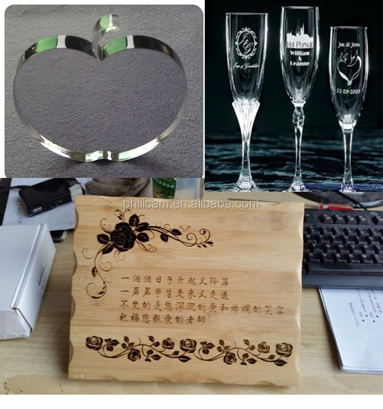 Jinan Philicam glass wine bottle laser engraving and cutting machine manufacturer