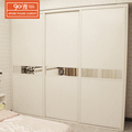 Cheap closet bedroom white wooden free standing wardrobe sliding door design