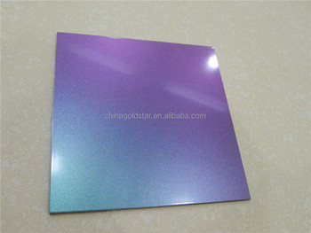 Change color Chameleon composite panel acp aluminium bond