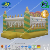 Yellow candle style bouncy castle for adult,free adult game