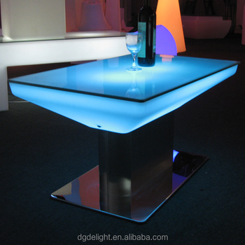 Nightclub LED Furniture Glowing Bar Table with 16 Colors Changeable