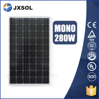 High efficiency monocrystalline photovoltaic cell solar panels 280 watt with TUV and CE certificates