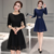 2017 Spring new arrival sweater dress , ladies long sleeve crew neck 7GG lace sweater dresses