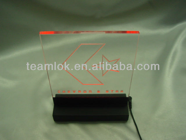 Unique LED Light Acrylic Tablet Stands Display For Promotion