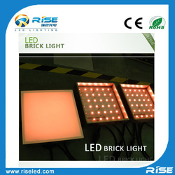 Outdoor led decor light decorative garden solar led glass brick