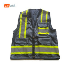 High Quality Reflelctive Safety Fishing Vest with Many Pockets