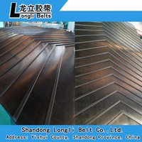 Different series cleat designs v-shape U- shape pattern chevron conveyor belts