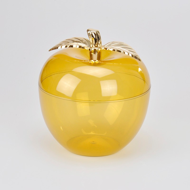 Beautiful Apple Shape Mini Candy Jar With Gold Plated Handle