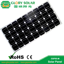 High Quality Alloy Alluminum Frame 100W Monocrystalline 18V Commercial Grade Solar Panels With Glass