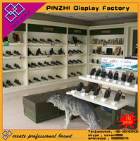 sneakers shop store design or commercial showcase for shoes displaying
