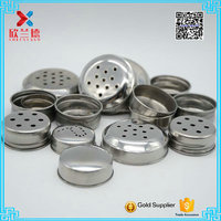 wholesale stainless steel lid with hole for spice bottle