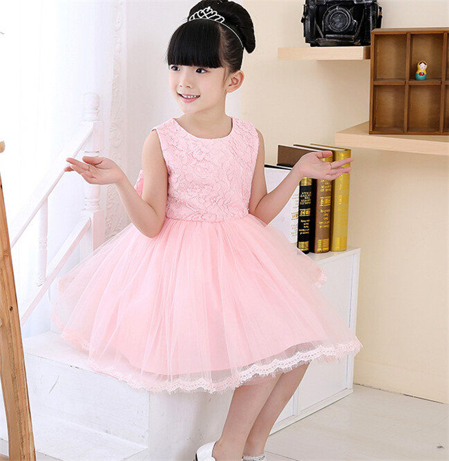 2015 flower pattern girls party dresses 2-16 years old fashion children frocks designs latest in kids clothes