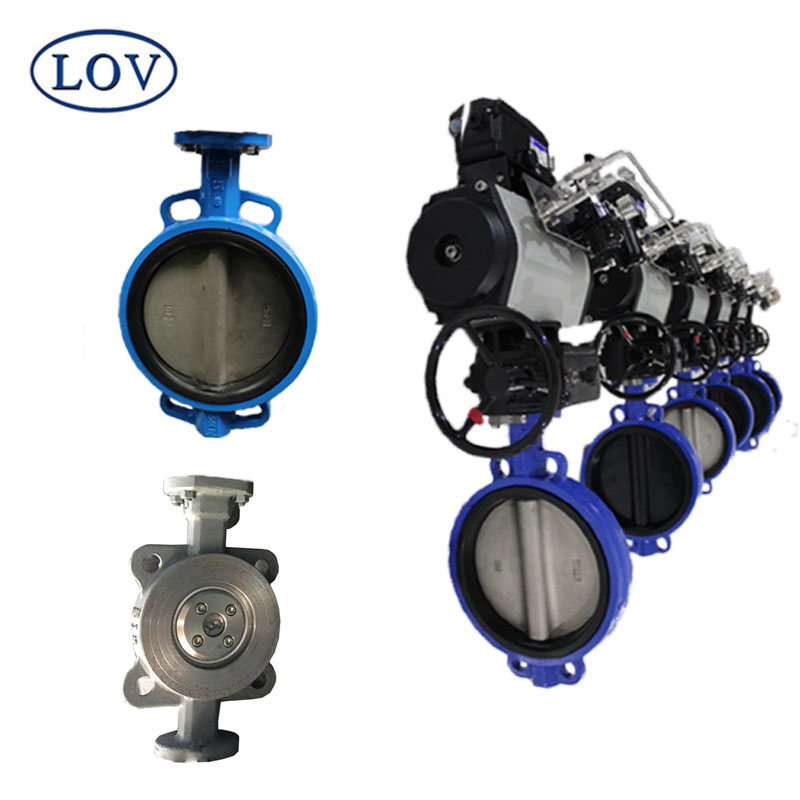 Stainless Steel Top Quality Pneumatic Wafer Butterfly Valves