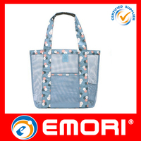 hot sale travel mesh type tote beach bag