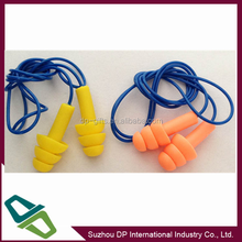 silicone ear plugs with string and plastic case