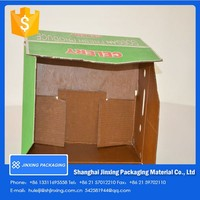 waterproof corrugated cardboard wax produce box/food shipping box/waxed packing cartons