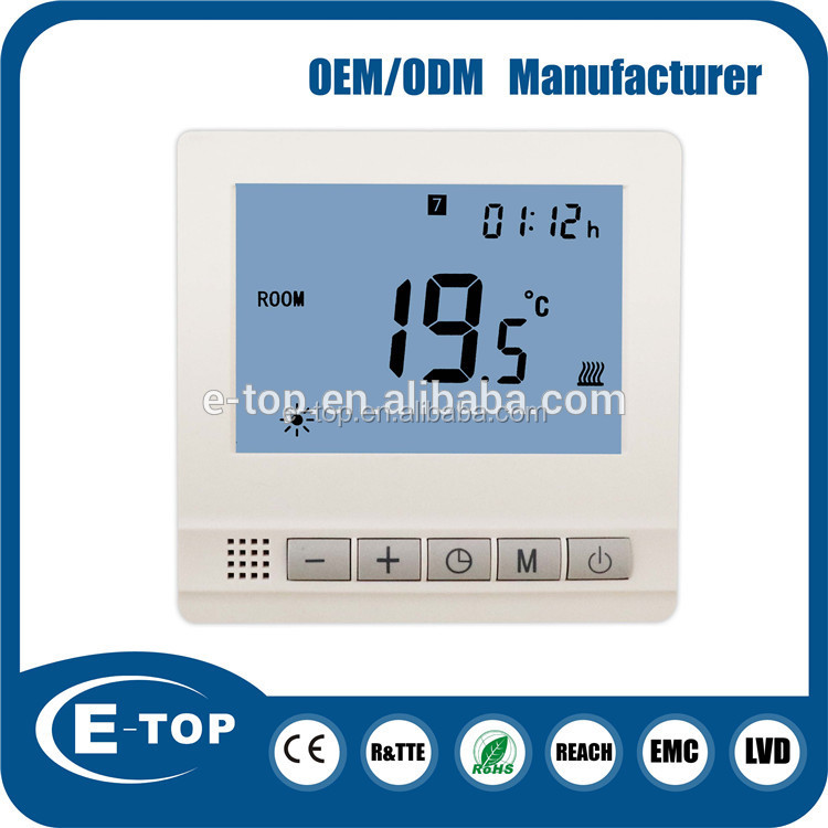 Simple and practical household internal programmable floor heating thermostat