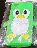 2013 new arrival animal shaped penguin silicone phone cover,silicone cellphone case
