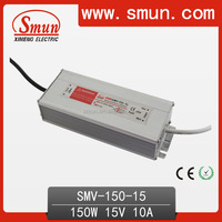 150W 15VDC Waterproof LED Power Supply With CE RoHS