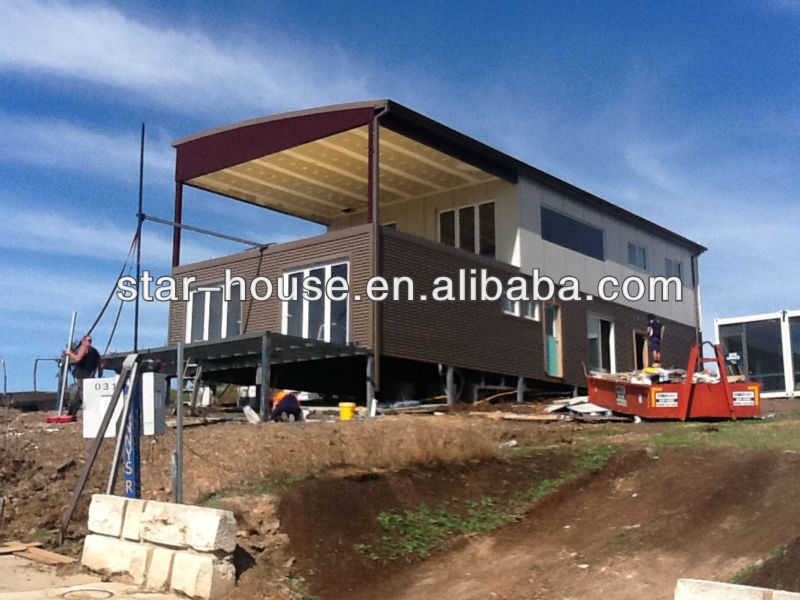 flexible layout container house for car garage