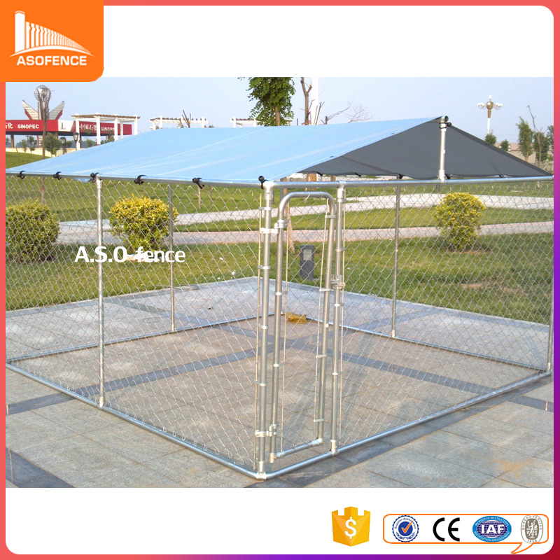 Anping chain link hot dipped galvanized large dog kennel for sale