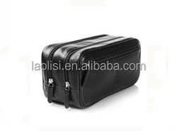 Alibaba china supplier multi-functional leather mens travel cosmetic bag men toiletry bag