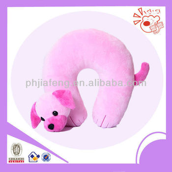 U shape plush dog pillow