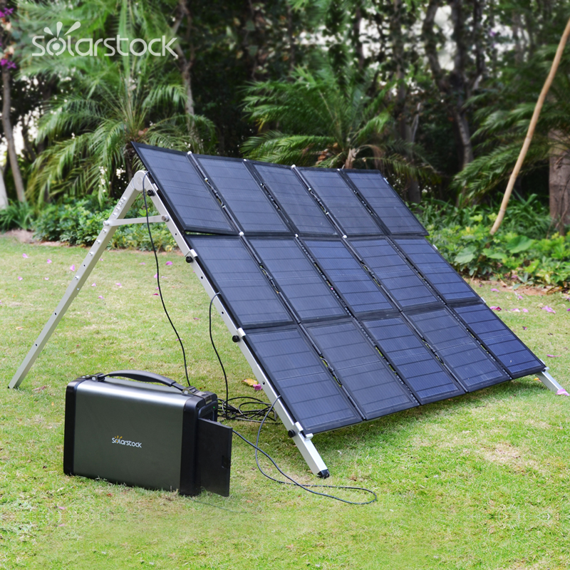 Lithium Battery Portable Solar Generator 500W for Emergency