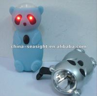 Panda Shape LED Hand-Crank Dynamo Flashlight New