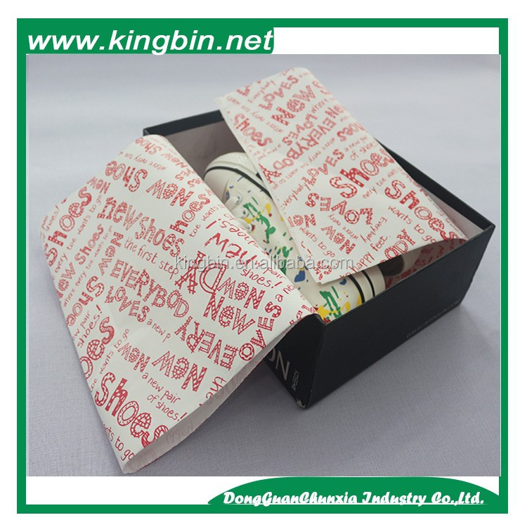 New product shoes 2016 Company logo printed tissue paper wrapping paper